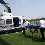 یاری امدادگران هوایی به دو بیمار در شوش